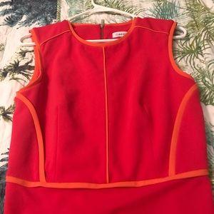 CALVIN KLEIN Size 4  Bright Pink/Orange Dress